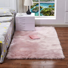 Load image into Gallery viewer, RAYUAN Artificial Wool Pink Sheepskin Hairy Carpet Faux Mat Soft Seat Pad Fur Plain Fluffy Area Rug Tapetes Multi Size