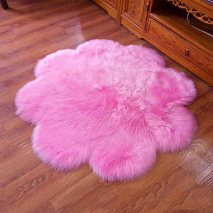 Fluffy Round Rug Carpets for Living Room Decor Faux Fur Carpet Kids Room Long Plush Rugs for Bedroom Shaggy Area Rug Modern Mat