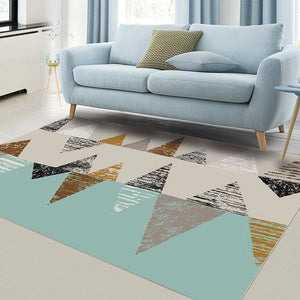 LOUTASI Nordic Style Geometric Carpet for Living Room Anti-Slip Soft Kids Bedroom Floor Mats Doormat Large Size Home Area Rugs