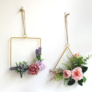Nordic Style Creative Iron Frame Wall Hangings Home Hemp Rope Jewelry Restaurant Wall Decoration Habitacion Wind Chimes Decor