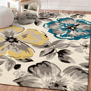 High Quality Abstract Flower Art Carpet For Living Room Bedroom Anti-slip Floor Mat Fashion Kitchen Carpet Area Rugs