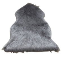Load image into Gallery viewer, DIDIHOU Fur Artificial Sheepskin Hairy Carpet Living Room Bedroom Rugs Skin Fur Plain Fluffy Area Rugs Washable Bedroom Faux Mat