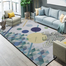 Load image into Gallery viewer, Abstract Art Colorful Lattice Carpet For Living Room Bedroom Anti-slip Floor Mat Fashion Kitchen Carpet Area Rugs