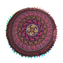 Load image into Gallery viewer, New Home Round Indian Mandala Floor Pillows Round Bohemian Cushions Pillows Cover Case color textile pillow Slip  43*43CM