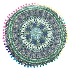 New Home Round Indian Mandala Floor Pillows Round Bohemian Cushions Pillows Cover Case color textile pillow Slip  43*43CM