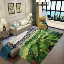 Load image into Gallery viewer, Nordic style Rugs Art Ethnic 3D Carpet Lving Room Bedroom Study Mat Machine Washable custom Rug Non-slip Mats Home Accessories