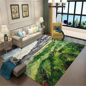Nordic style Rugs Art Ethnic 3D Carpet Lving Room Bedroom Study Mat Machine Washable custom Rug Non-slip Mats Home Accessories