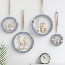 Load image into Gallery viewer, Flone Nordic Decoration Home Wooden Elk Hanging Ornaments Christmas Nursery Decor Kids Room Decoration Supplies Accessories