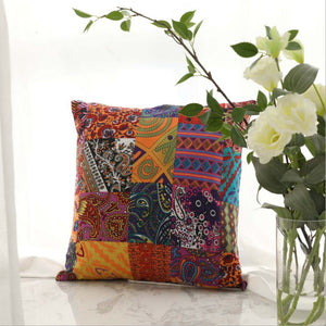 New Cushion Cover Vintage Bohemian Middle Eastern Cotton Hemp Pillow Decorative Cushion Cover Without Core Home Decoration