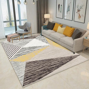Zeegle Modern Living Room Carpets Anti-slip Bedroom Study Room Floor Mats Flannel Coffee Table Area Rug Soft Kids Room Carpets