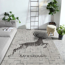 Load image into Gallery viewer, Zeegle Modern Living Room Carpets Anti-slip Bedroom Study Room Floor Mats Flannel Coffee Table Area Rug Soft Kids Room Carpets