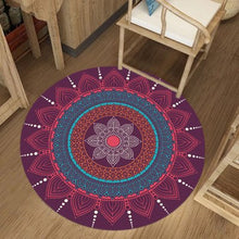 Load image into Gallery viewer, Indian Bohemian Round Carpets For Living Room Ethnic Computer Chair Area Rug Persian Floor Mat Cloakroom Carpet for Bedroom