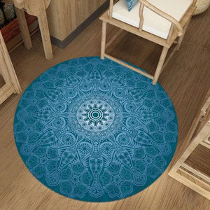 Indian Bohemian Round Carpets For Living Room Ethnic Computer Chair Area Rug Persian Floor Mat Cloakroom Carpet for Bedroom