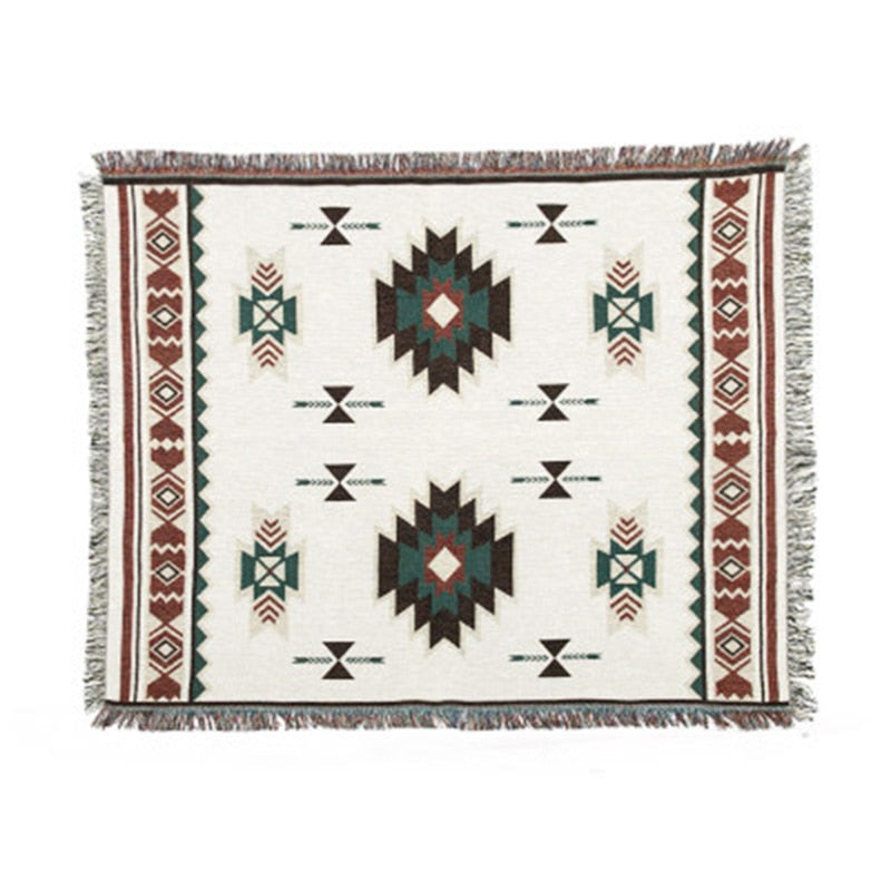 Geometric Tribal Ethnic Aztec Navajo Blanket Throw Rugs Mat Sofa Art Bohemian UK