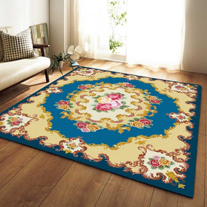 Drop Ship Bohemian Floral Large Floor Carpets for Living Room Non-Slip Area Rugs For Bedroom Sofa Carpet Bedside Rugs Alfombras