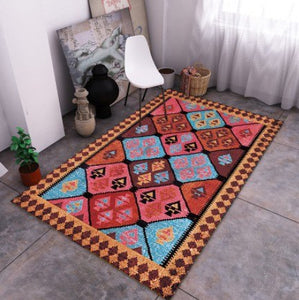 Bohemian Style Carpet Morocco Ethnic Carpets For Living Room Bedroom Rugs Home Carpet Floor Door Delicate Area Rug Fashion