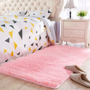 Top selling long hair Thickened washed silk hair non-slip carpet living room coffee table blanket bedroom rugs  bedside mat