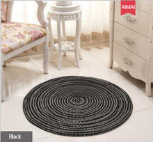 Load image into Gallery viewer, Hand Woven Thicken Round Rugs Soft Cozy Non-slip Washable Durable Handmade Area Rug Absorbent Bedroom Carpet Living Room Mat