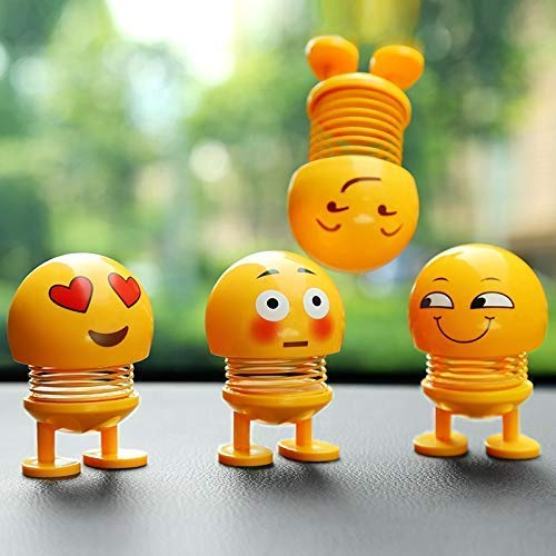 Funny Smiley Face Spring Dancing Toys (Pack of 4Pcs)