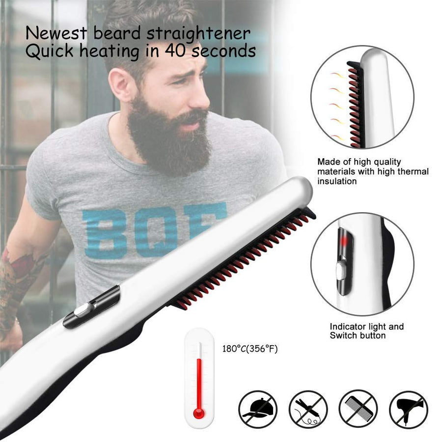 Multifunctional Hair Comb Brush Quick Beard Straightener