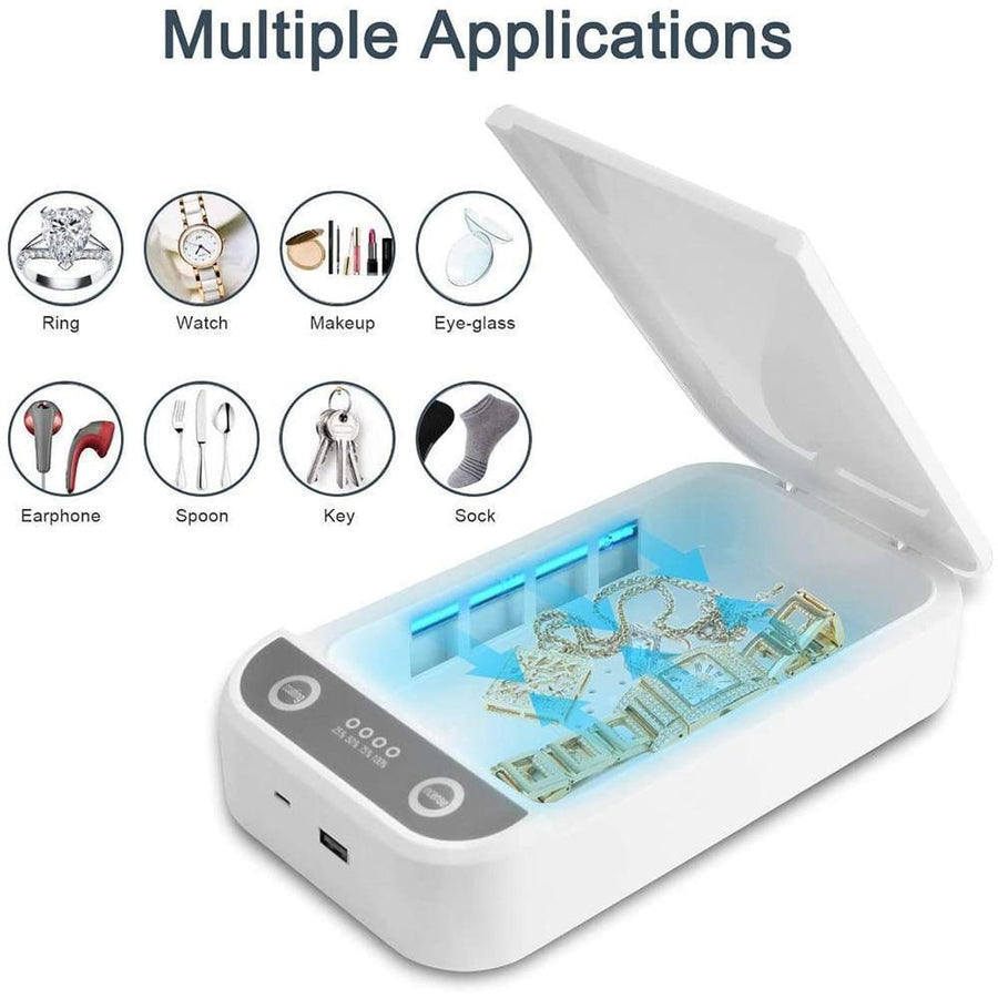 UV Light Cell Phone Sterilizer with USB Charging Box