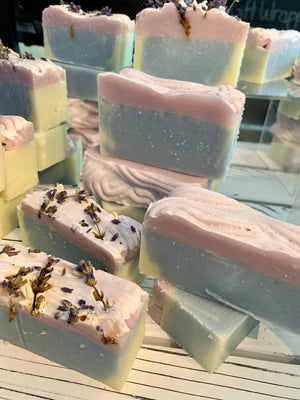 BLUE LAVENDER SOAP BAR