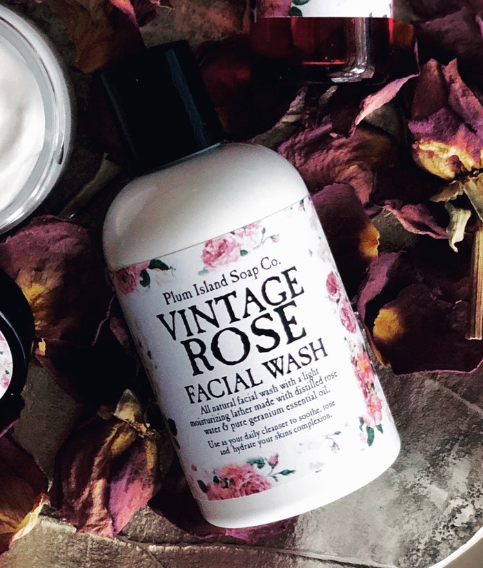 Vintage Rose Facial Wash