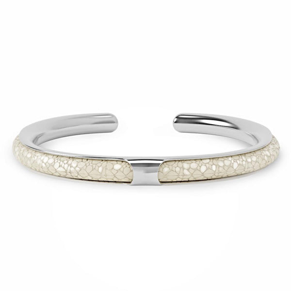 Apollo | Bracelet Stingray Blanc
