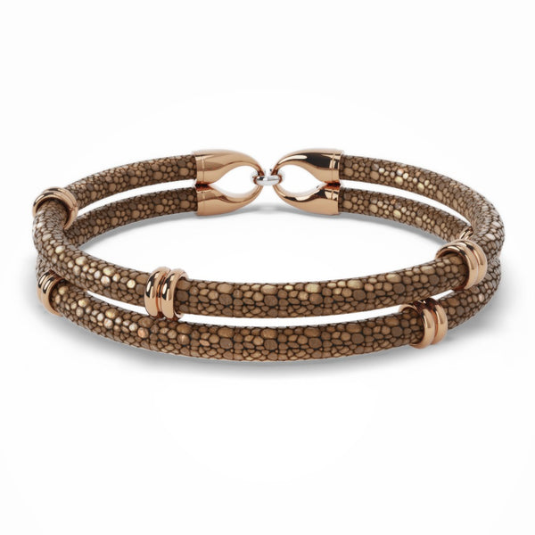 Chaman | Bracelet Stingray Marron