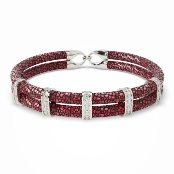 Karma | Bracelet Stingray Bordeaux