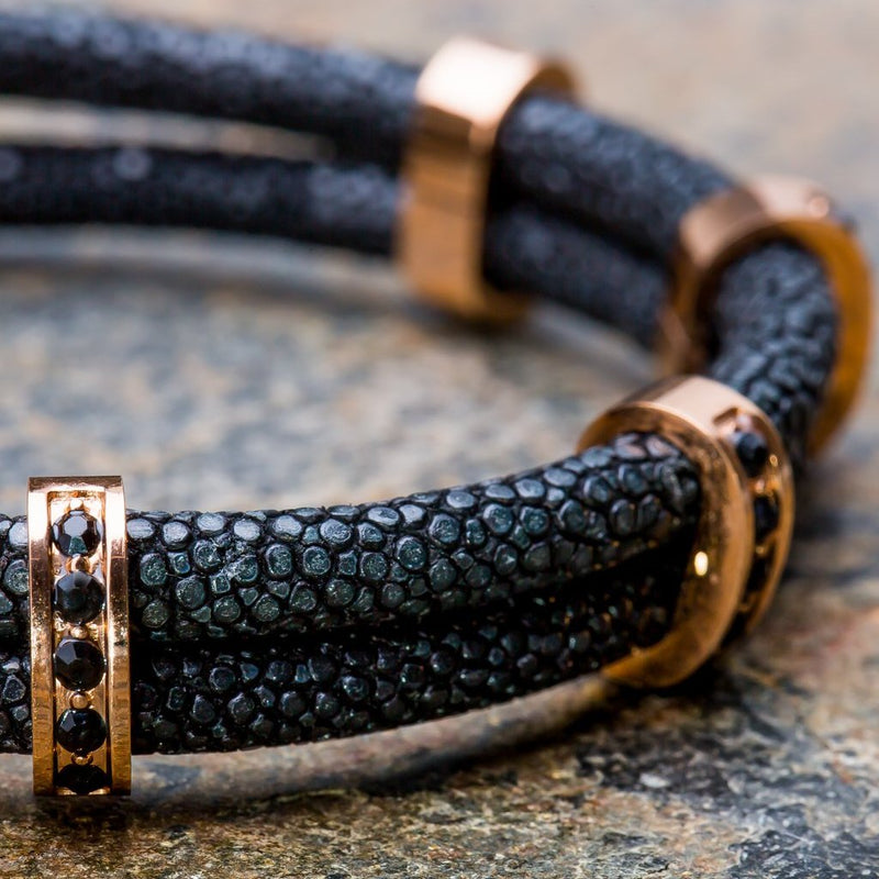 Karma | Black Stingray Bracelet