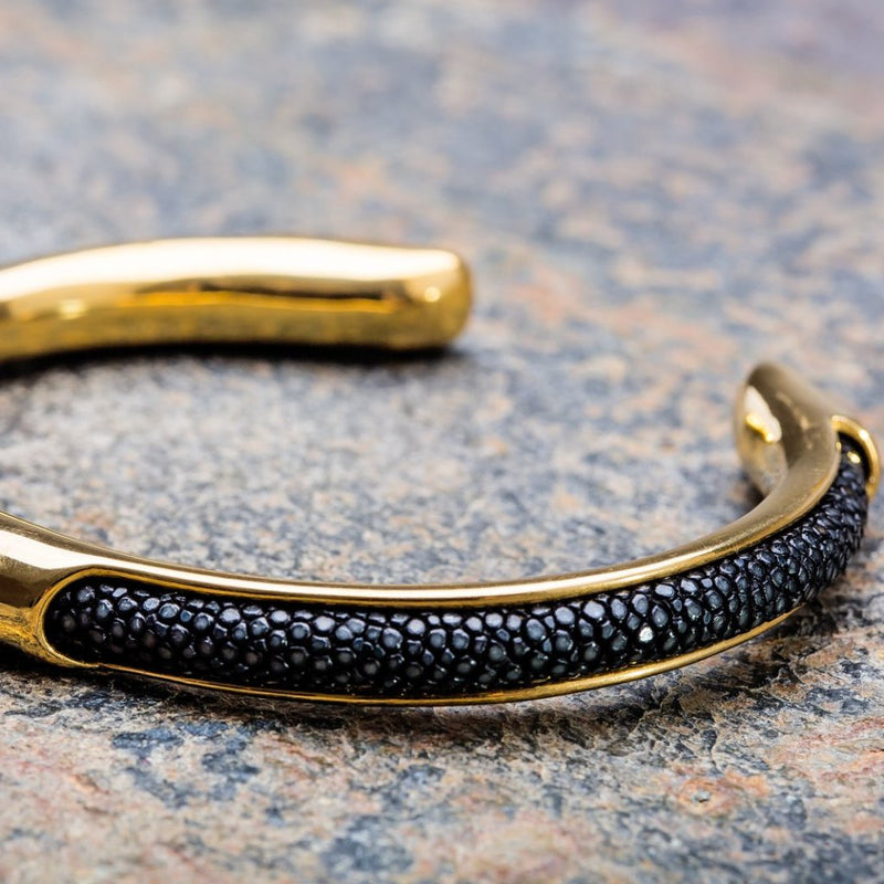 Apollo | Bracelet Stingray Noir