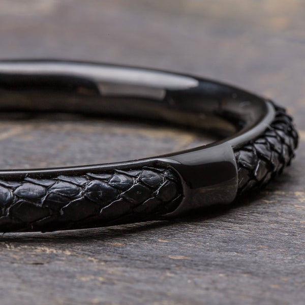 Apollo | All Black Python Bracelet