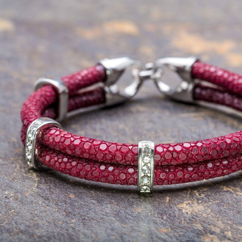 Karma | Bordeaux Stingray Bracelet
