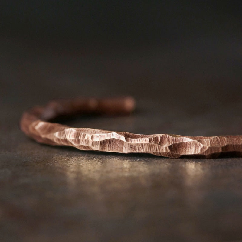 Hammered Bronze Cuff