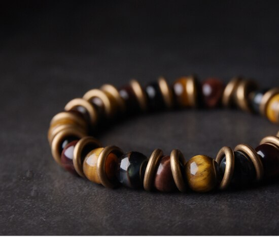 Tiger Eye and Bronze Set