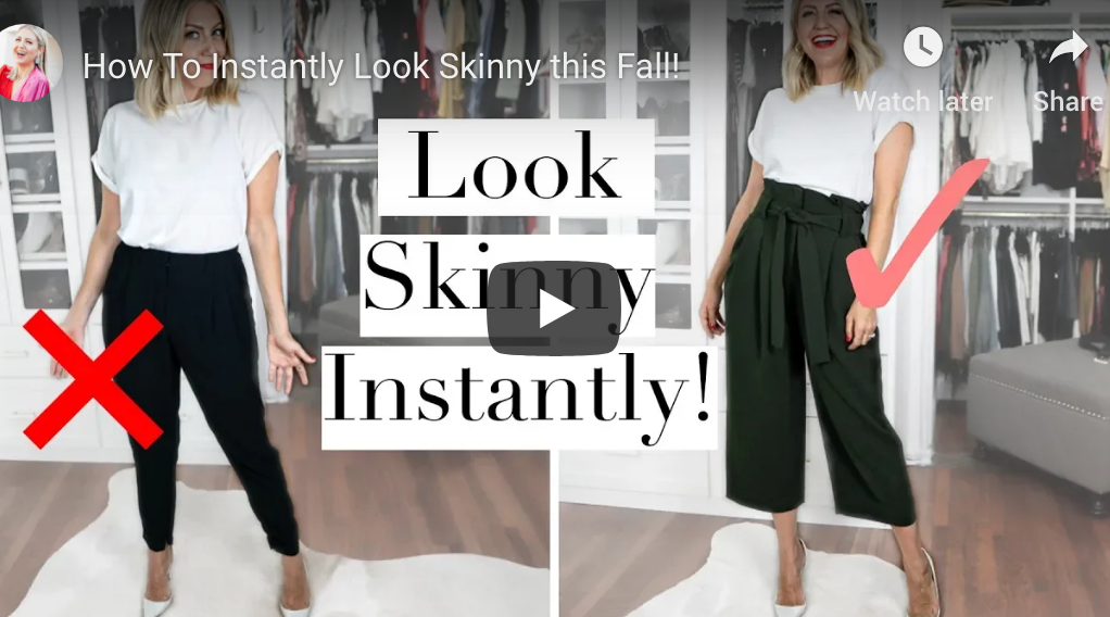 """How To Instantly Look Skinny this Fall!"" video on my Lindsay's Latest channel!"
