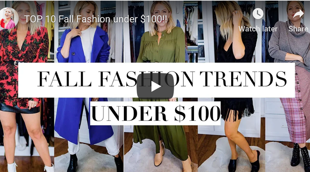 """TOP 10 Fall Fashion under $100!!"" video on my Lindsay's Latest channel!"