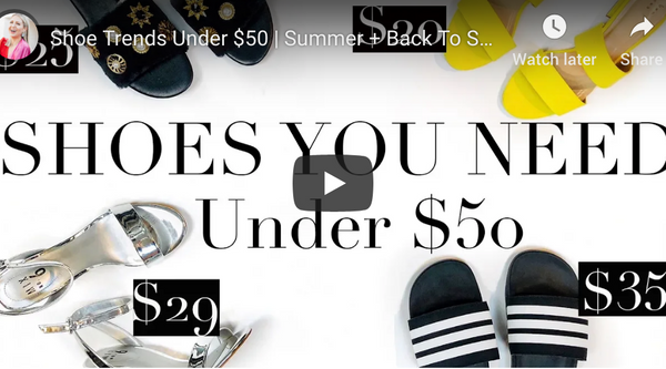 """Shoe Trends Under $50 