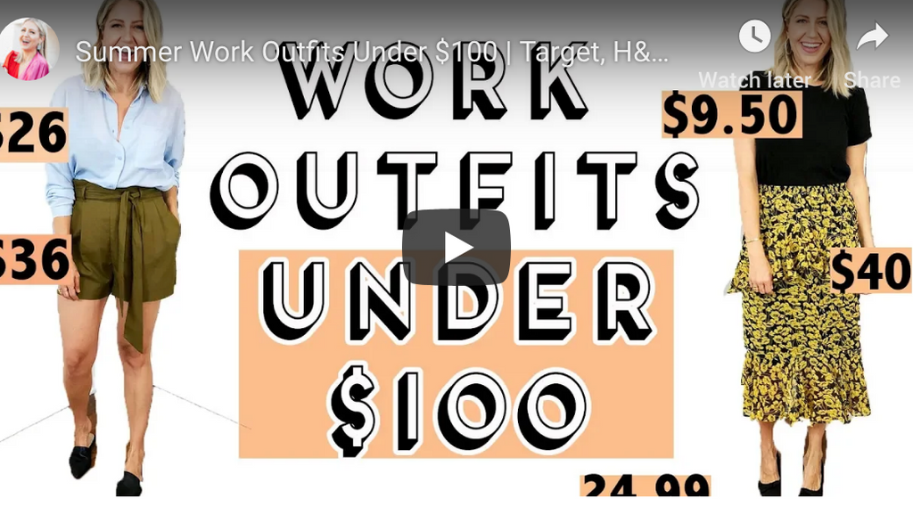 """Summer Work Outfits Under $100 + Giveaway!"" video on my Lindsay's Latest channel!"
