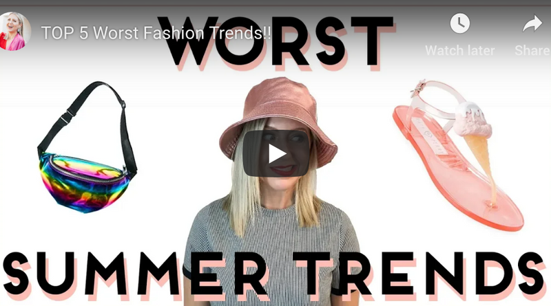 """TOP 5 Worst Fashion Trends!!"" video on my Lindsay's Latest channel!"