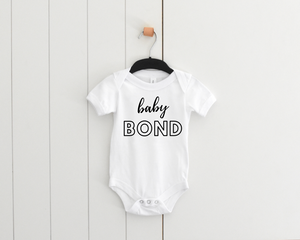Bold font baby personalised bodysuit