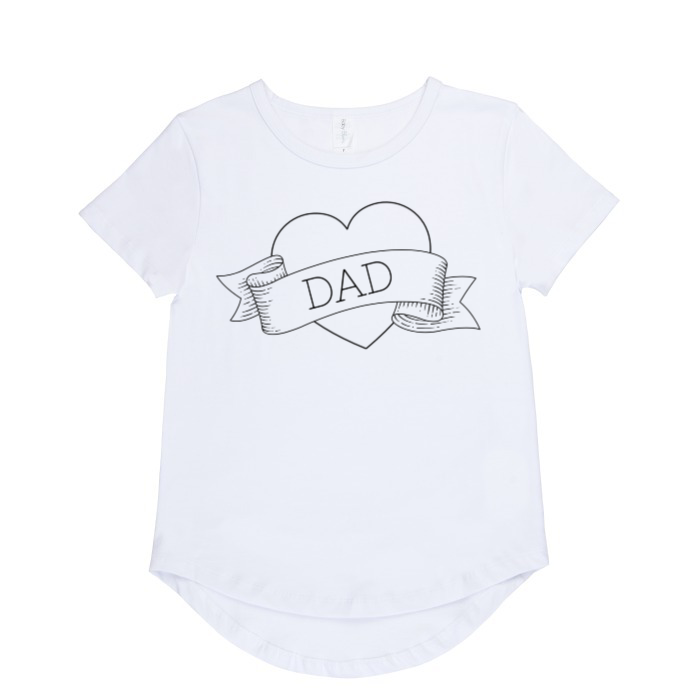 I heart Dad t-shirt | size 6 - 14