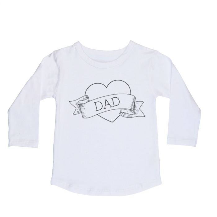 I heart Dad long sleeve top | size 0 - 14