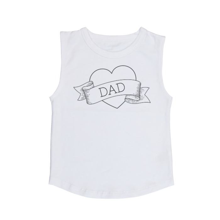 I heart Dad muscle tank | size 0 - 5