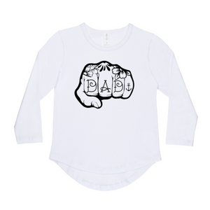 Knuckles Dad long sleeve top | size 0 - 14