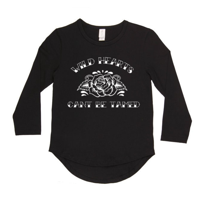 Wild hearts can't be tamed long sleeve top | size 0 - 14