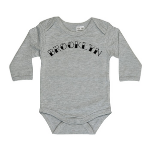 Tattoo font personalised long sleeve bodysuit | size 0000 - 1