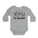 I'm new here long sleeve bodysuit | size 0000 - 1