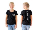 Classic font personalised tee